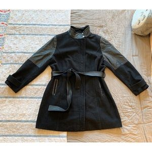 Lane Bryant Sz 14/16 Wool Blend Belted Trench Coat